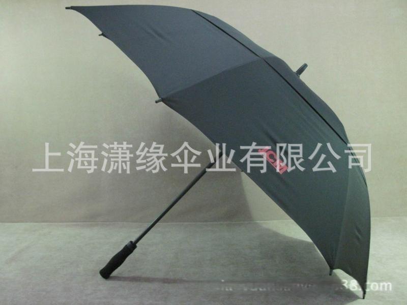 真双层双顶高尔夫伞、30英寸双层纤维骨高尔夫伞   可印LOGO