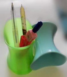 创意硅胶笔筒定制 创意文具用品 硅胶办公用品定制