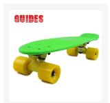 GUIDES小鱼板 原料PP 四轮香蕉板 4轮滑板/公路板/速降板