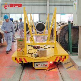 室外56吨低压电动台车 自动保护轨道平车