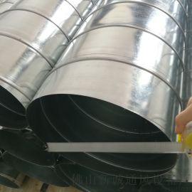 新诚通风供应风机设备管道 镀锌螺旋风管 白铁螺旋风管