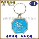 供應廠家直銷創意美人魚圖案鑰匙扣 精美藍色調美人魚鑰匙扣定製
