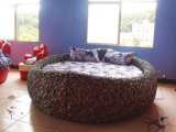 情趣家具新款豪华鸟巢圆床 电动红床豪华恒温水床