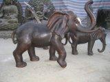 树林铜雕 ,铸铜大象,  纯铜大象