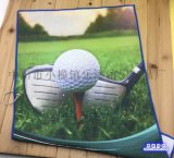 廠家定製鳳梨格數碼熱轉印廣告高爾夫巾