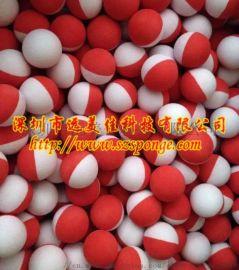 阿EVA浮力海绵球 羽毛球上用彩虹球