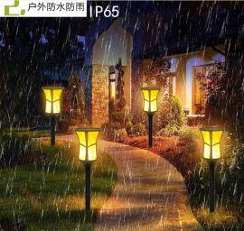 厂家销售火焰灯LED太阳能庭院灯花园地插灯草坪灯