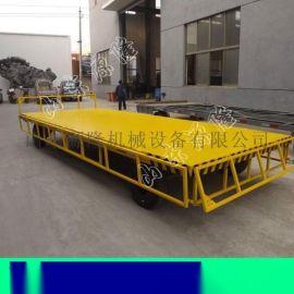 15吨中转平板拖车 叉车牵引平板拖车 阳光房运输车