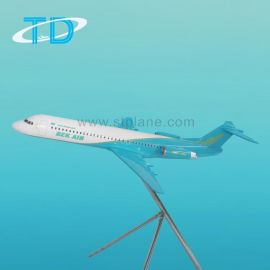 福克100静态仿真航空100cm模型飞机