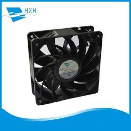 厂家供应增压型1238大风量低噪音净化器变频器机柜12V24V48V风扇