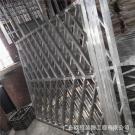 中式复古铝合金窗花装饰 艺术造型焊接镂空铝窗花幕墙