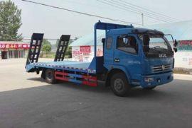 东风多利卡平板运输车|挖掘机平板运输货车