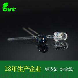 F4圆头红外发射管(850NM) 0.1w台湾光磊芯片直插式LED灯珠