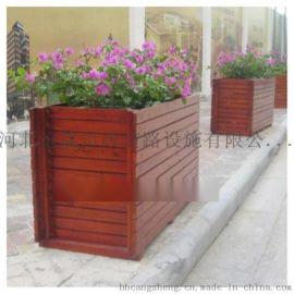 保定組合木質花箱花盆定制戶外木質花箱花盆