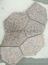 樱花红冰裂纹石材-色差小