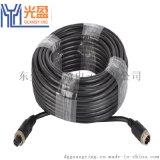 光盈銷售M12-4芯車載航空插頭連接線