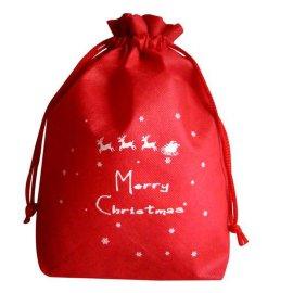 惠州手袋厂专业定制圣诞节礼品抽绳袋 无纺布束口袋