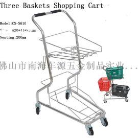 日式两篮便捷型购物车