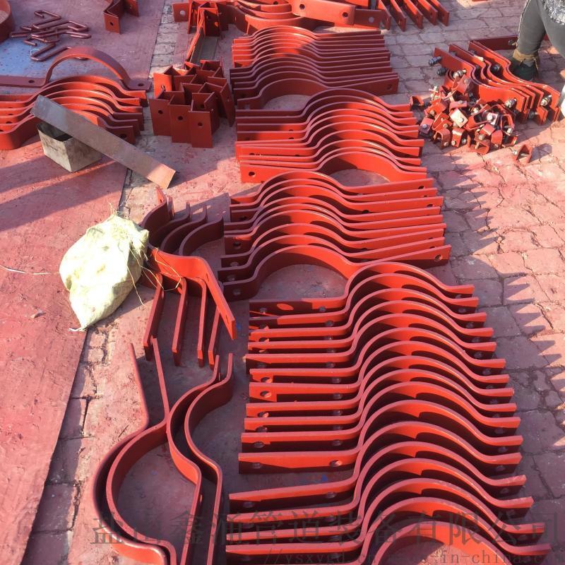 焊制02S402圖集管道支座 鋼製D1三孔長管夾