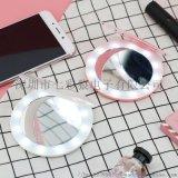 雙面摺疊led發光化妝鏡觸摸感應攜帶型隨身化妝鏡