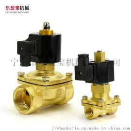 乐盈宝常规型纯铜2W电磁阀 常开式通电关闭阀
