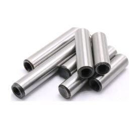 45钢高精度内螺纹圆柱销 热处理带孔圆柱销