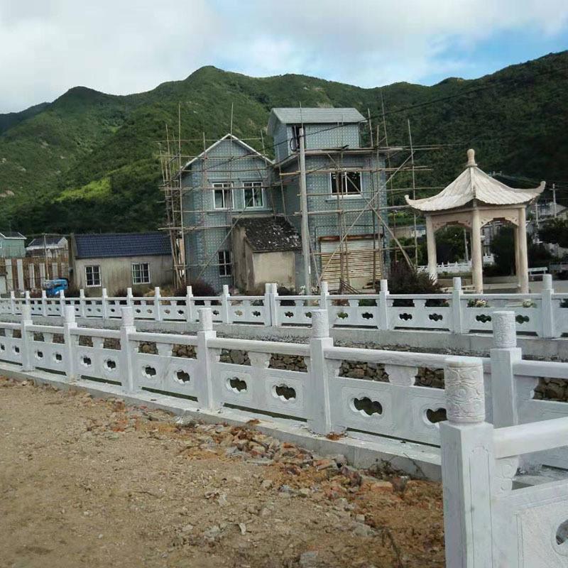 价格便宜的草白玉栏杆及制作厂家-曲阳县聚隆园林雕塑
