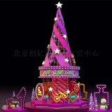 大型框架圣诞树 LED发光圣诞树 铁艺圣诞树