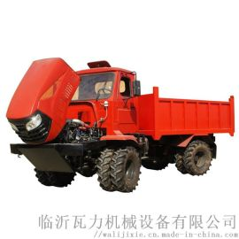 农用四驱柴油折腰转向运输拖拉机 四驱粮食转运车