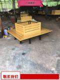 小区塑木花箱新品 生产厂家户外实木花箱