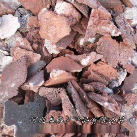 本格廠家  鋪路火山石板材 牆面用紅色火山石切片
