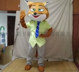 卡通疯狂动物城狐狸兔子科尼赣州自制卡通服装