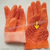 PVC颗粒止滑手套浸胶耐磨耐油防水水产加工渔业防护
