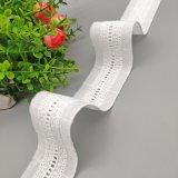 中间细楼梯格花边全棉刺绣花边条码编织棉布花边女装