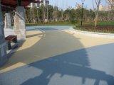 透水地坪彩色多孔混凝土路面滲水地坪藝術地坪施工材料廠價直銷