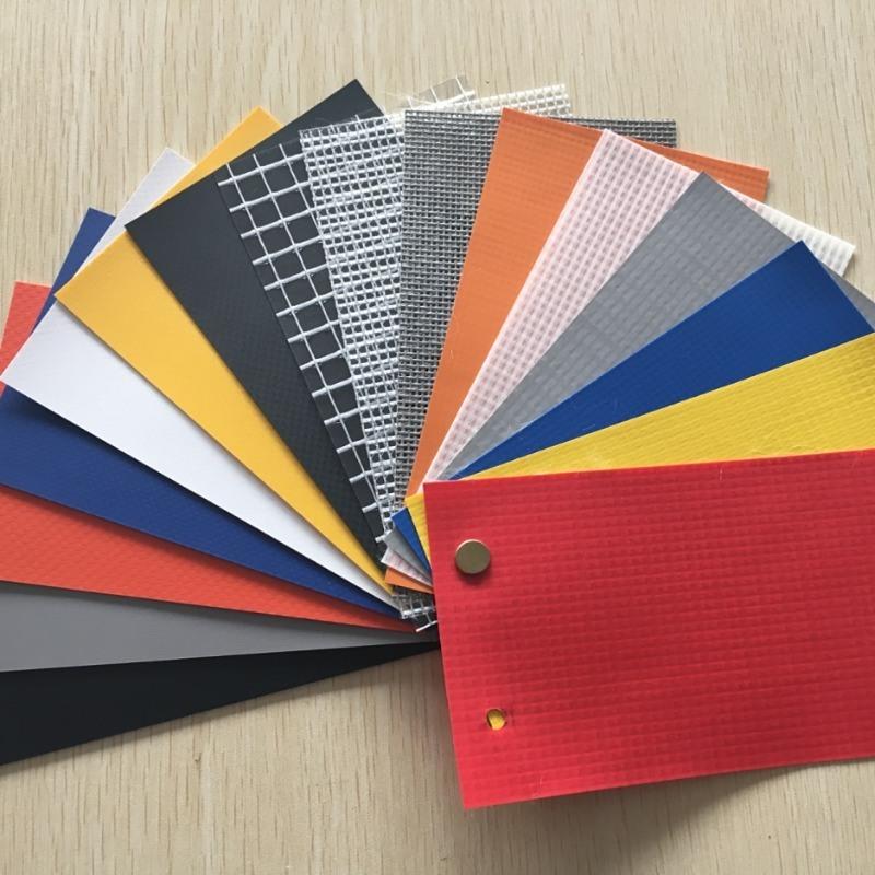 厂家直销pvc夹网布高强涂层布刀刮布网格布 箱包布
