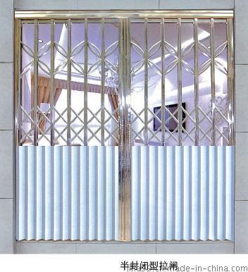 廣東佛山不鏽鋼拉閘門廠家,不鏽鋼拉閘門價格批發半封閉型
