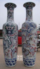 供应鑫腾陶瓷厂家,青花大花瓶,手工陶瓷大花瓶价格