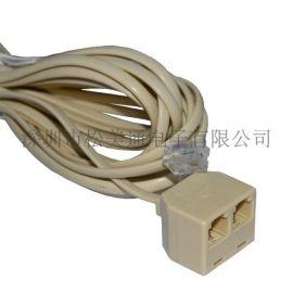一分二 转接分线盒 高质量 镀金 环保电话线