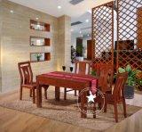 恒岳家具 厂家直销 纯实木水曲柳饭桌 现代中式餐桌椅组合简约桌