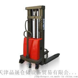 高品质1T/2T 1.6M半电动堆高车电动叉车托盘堆高机半自动升降车