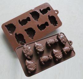 烘焙工具 硅胶巧克力蛋糕模 动物形DIY巧克力模