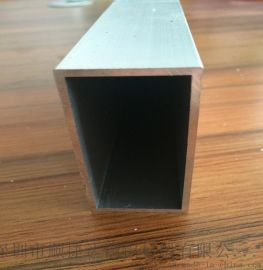 氧化本色铝方管 6063铝方管 橱窗铝方管
