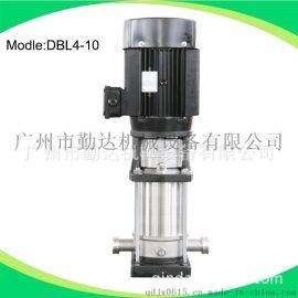广州厂家直销立式不锈钢多级管道泵DBL4-10   2.2kw电驱动
