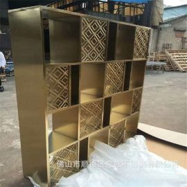 精品不锈钢钛金酒柜  电镀不锈钢酒架  各种异型不锈钢展示柜