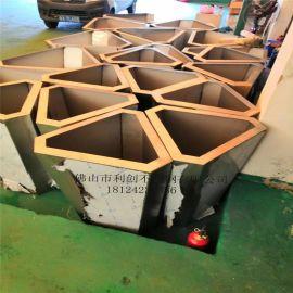 供应园林钻石形花盆不锈钢中式园艺花箱定制批发金属异形花钵加工