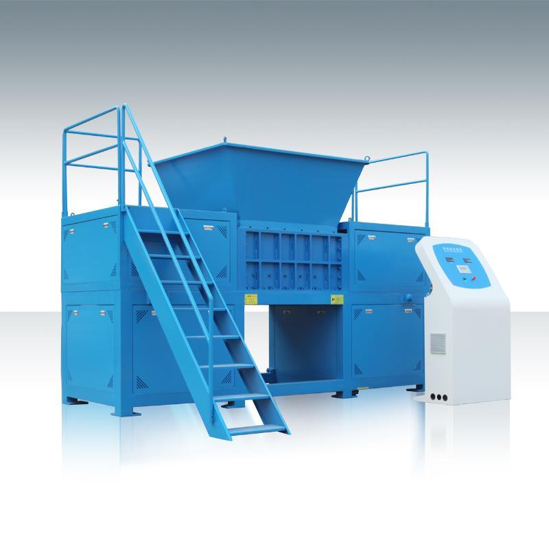 藍桶撕碎機,PE塑料桶雙軸撕碎機