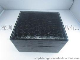 廠家定做高檔皮手錶盒 香水皮盒 皮質鋼筆盒 化妝藥劑包裝盒