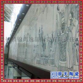 景德镇陶瓷瓷板画艺术品 虎虎生风图 壁画装饰画 接图定做
