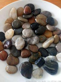 河北保定3-5公分黑色抛光鹅卵石 机制鹅卵石